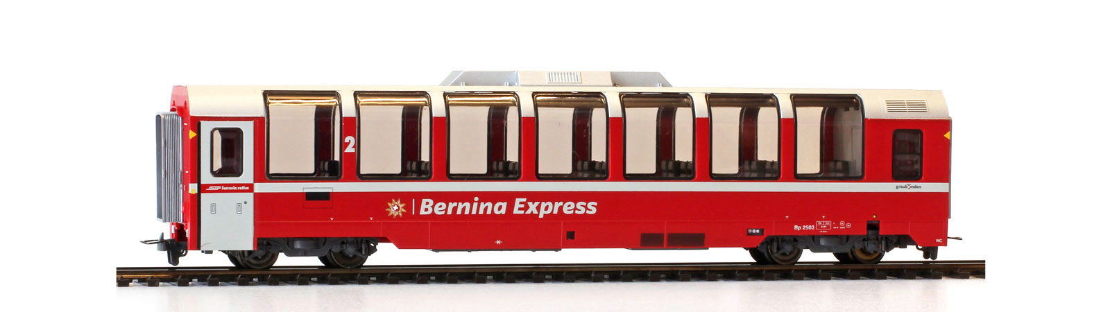 Bemo 3294143 RhB Bp 2503 Panoramawagen Bernina-Express