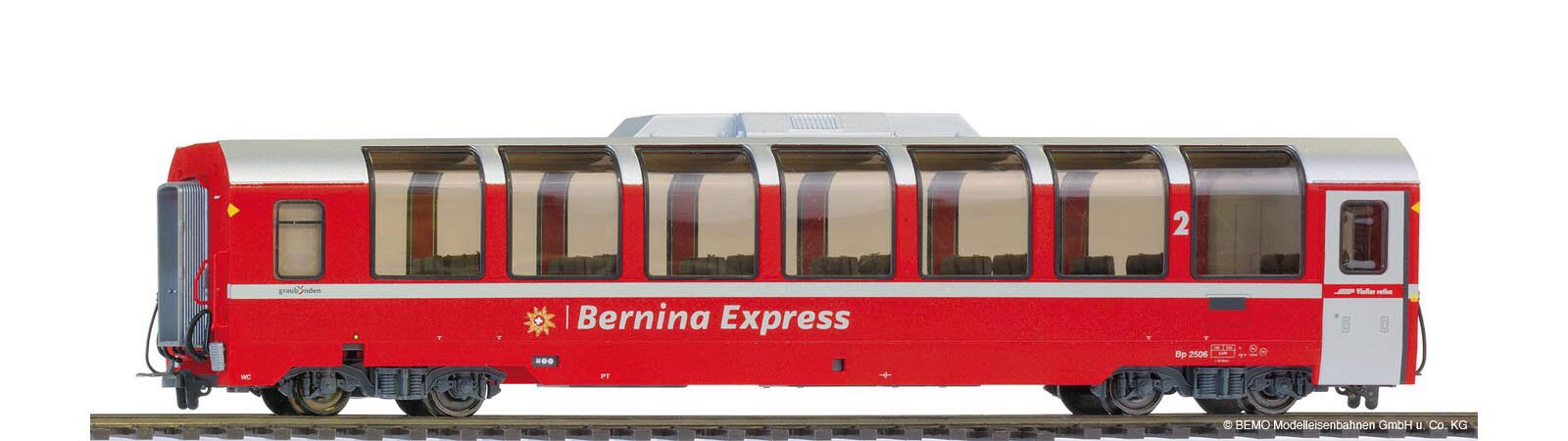 Bemo 3294146 RhB Bp 2506 Panoramawagen Bernina-Express