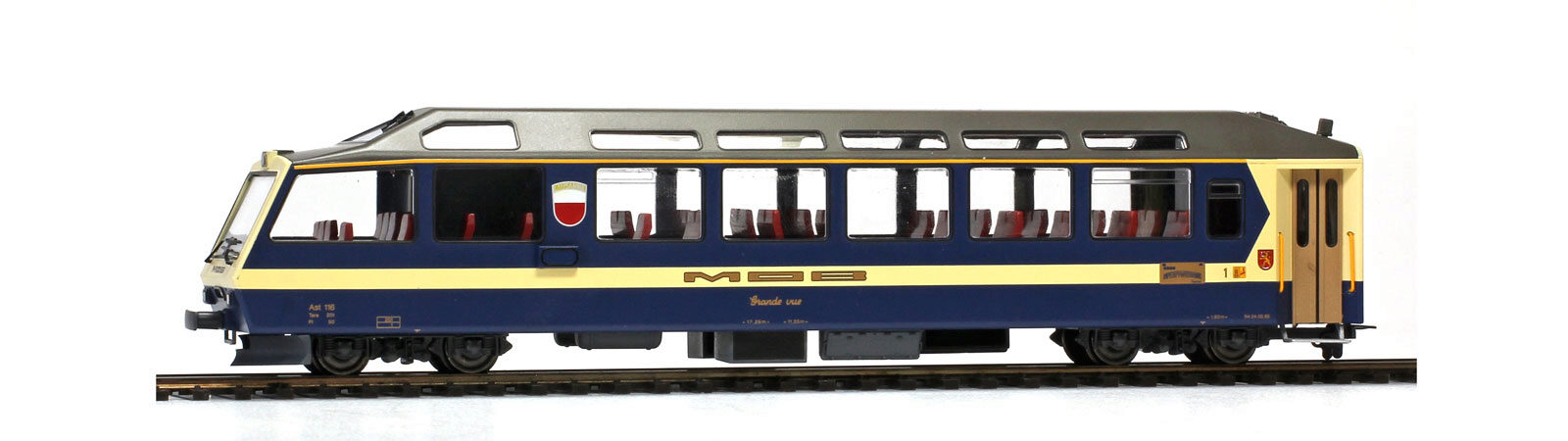 "Bemo 3297306 MOB Arst 116 ""Superpanoramic Express"" Steuerwagen"