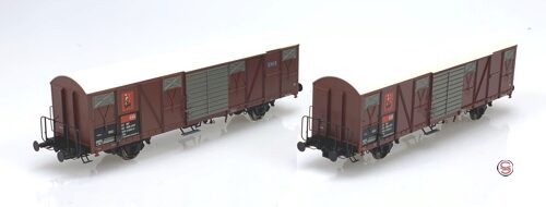 Exact Train 20452 SBB Tiertransportwagen Gbs  Circus Knie Set 2 Wagen