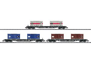 Minitrix 15961 Güterwagen-Set Containertrans