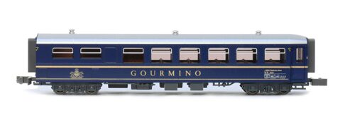 Kato 7074054 Restaurant Car WR3811 Gourmino (blue)