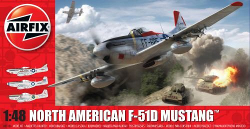 Airfix A05136 North American F51D Mustang