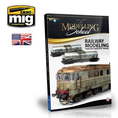 Ammo AMIG6250 MODELLING SCHOOL - RAILWAY MODELING: PAINTING REALISTIC TRAINS ENGLISH