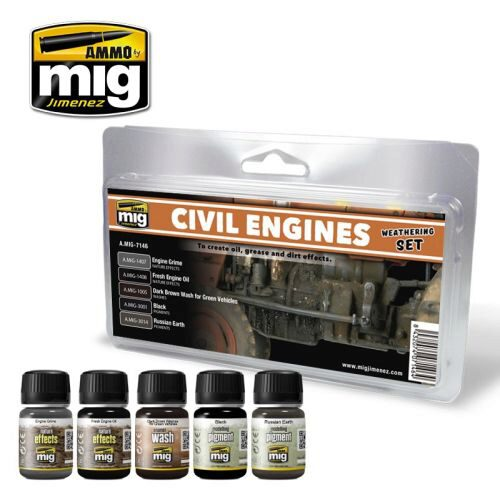 Ammo AMIG7146 CIVIL ENGINES WEATHERING SET