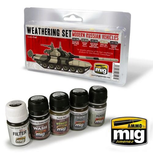 Ammo AMIG7147 MODERN RUSSIAN VEHICLES WEATHERING SET