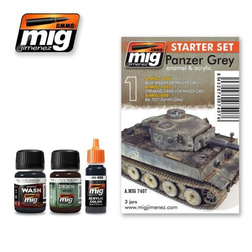 Ammo AMIG7407 PANZER GREY SET