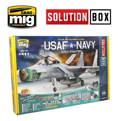 Ammo AMIG7709 SOLUTION Box USAF Navy Jet - grey Fighters