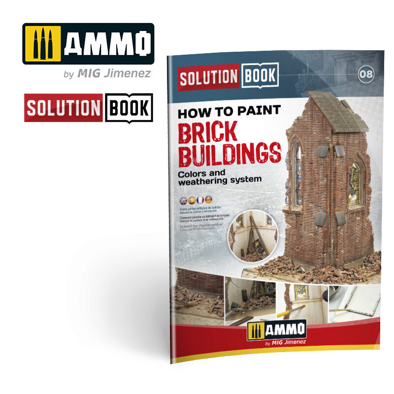 Ammo AMIG6510 How to Paint Brick Buildings. Colors & Weathering System Solution Book (Multilingual)  70 Seiten