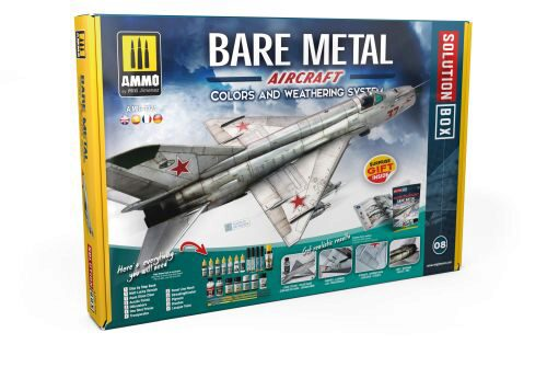Ammo AMIG7721 SOLUTION Box BARE METAL AIRCRAFT. COLORS AND WEATHERING SYSTEM