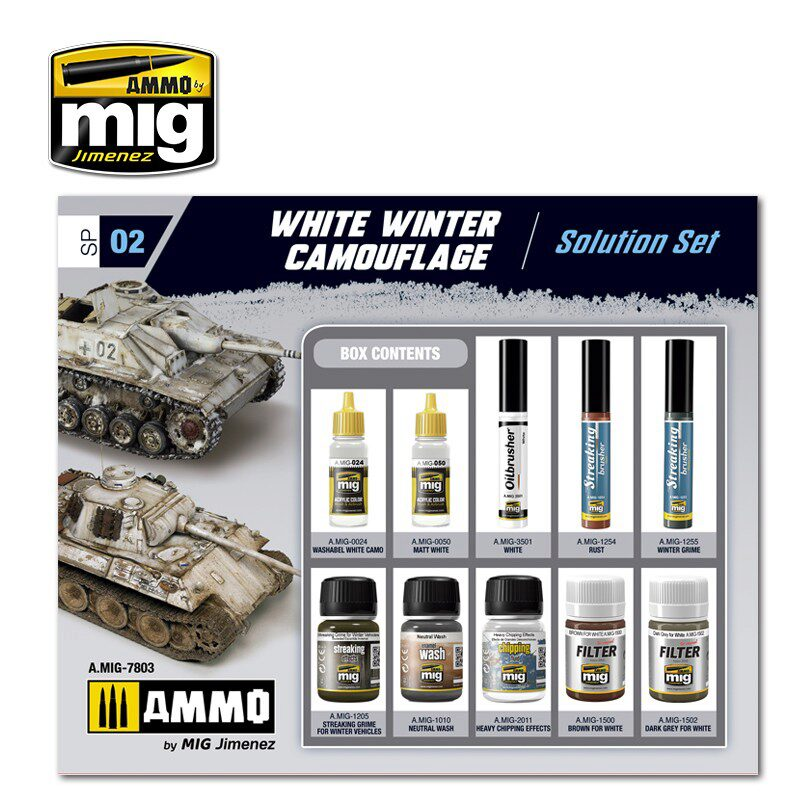 Ammo AMIG7803 WHITE WINTER CAMOUFLAGE WEATHERING SET