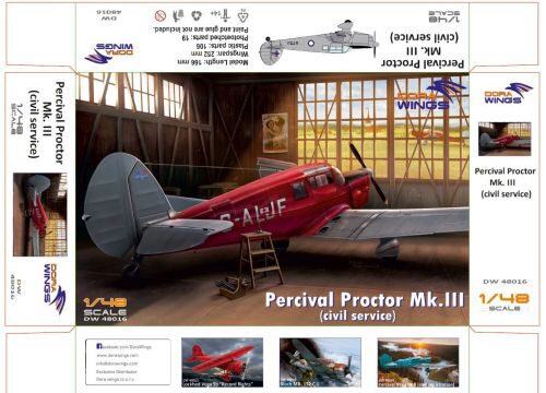 Dora Wings 48016 Percival Proctor Mk.III (civil registration)