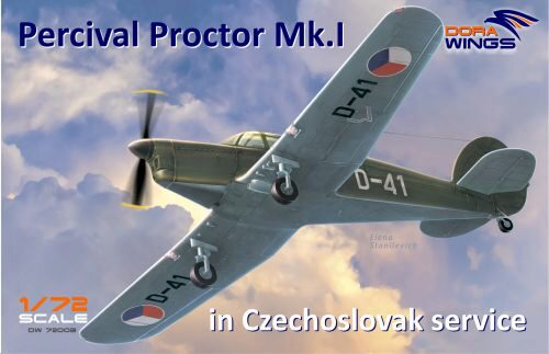 Dora Wings 72003 Percival Proctor Mk.1 marking of Czechoslovakia