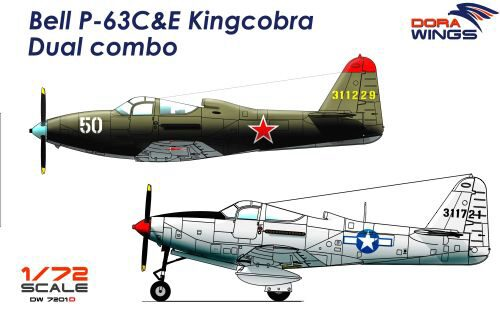 Dora Wings 7201D Bell P-63C&E Kingcobra Dual combo (2 in 1)