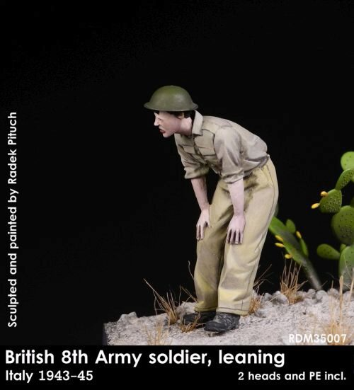 Rado Miniatures 35007 British 8th Army soldier leaning, 1943-45