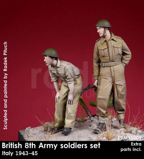 Rado Miniatures 35009 British 8th Army soldiers, 1943-45