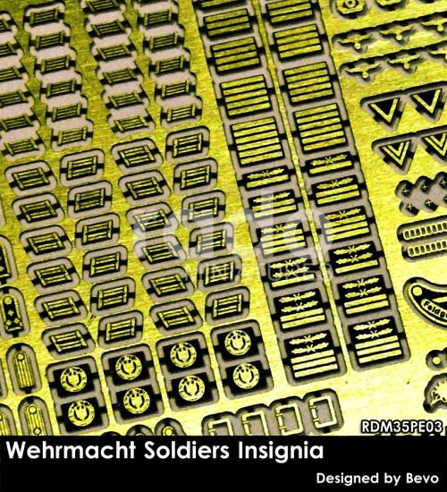 Rado Miniatures 35PE03 Wehrmacht Soldiers Insignia set (photo-etched parts)