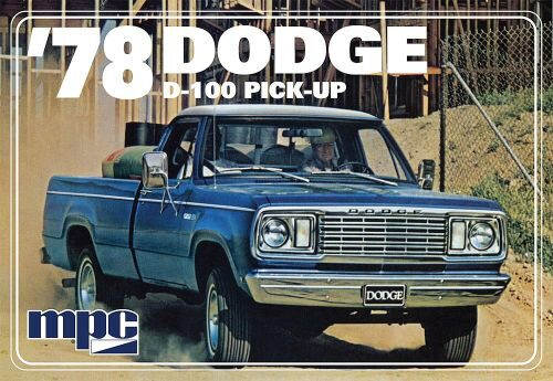 amt 590901 1/25 1978er Dodge D100 Custom