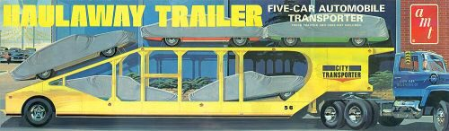 amt 591193 1/25 5-Car Haulway Trailer