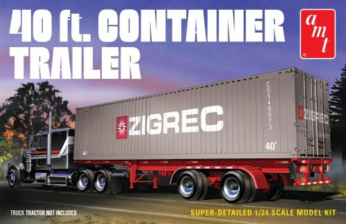 amt 591196 1/24 40ft Semi Container Trai