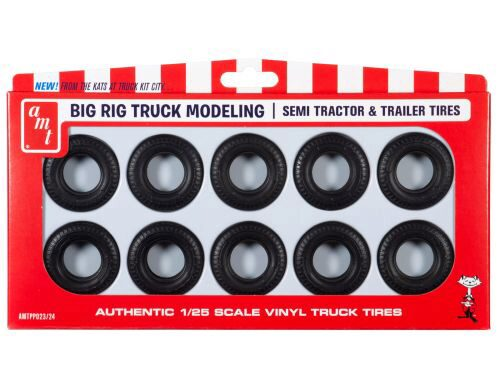 amt PP023 Big Rig Truck Tire Parts Pack