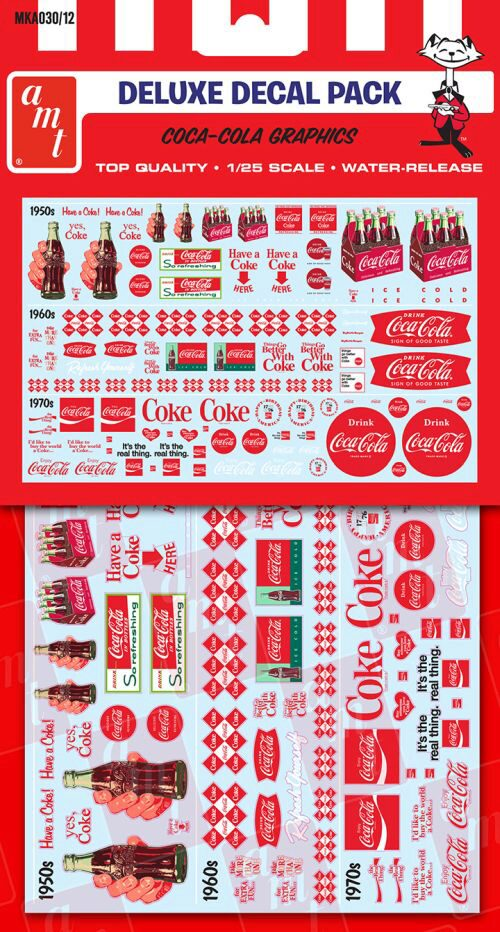 amt MKA030 Coca-Cola Decal Pack