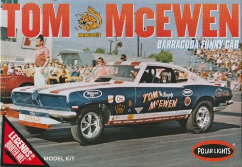 amt POL953 Tom Mongoose McEwen 1969 Barracuda Funny Car