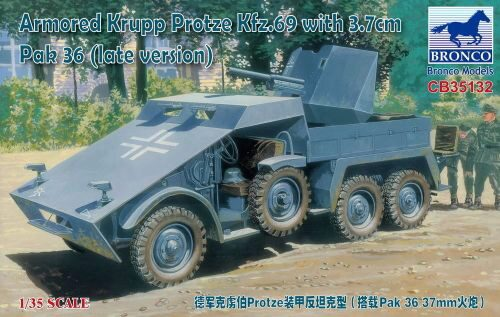 Bronco Models CB35132 Armored Krupp Protze Kfz.69 with 3.7cm Pak 36 (late version)