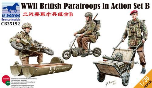 Bronco Models CB35192 WWII British Parattroops In Action Set B