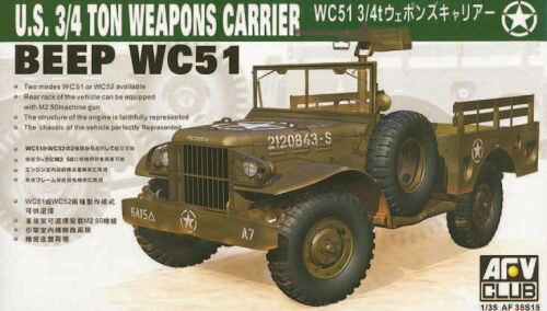 AFV-Club 35S15 WC-51 4X4 WEAPONS CARRIER DODG
