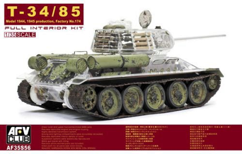 AFV-Club 35S56 T-34/85 Factory 174 with trans. turret