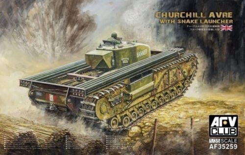 AFV-Club AF35259 Churchill avre with snake launcher