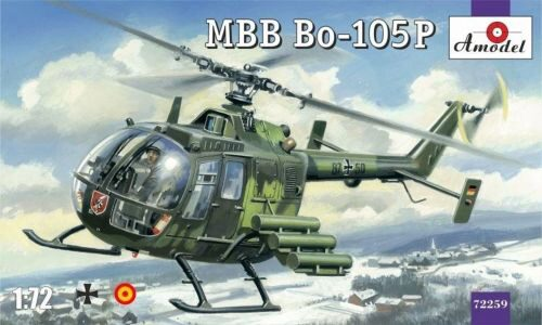 Amodel AMO72259 MBB Bo-105P helicopter, military version
