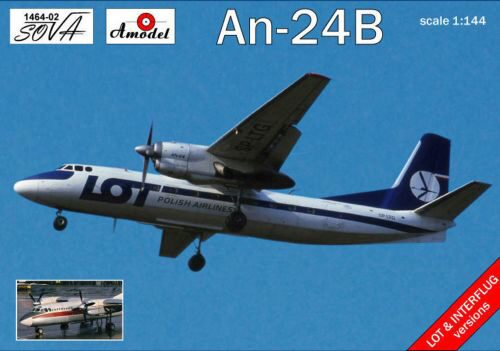 Amodel AMO1464-02 Antonov An-24B Polish/DDR airlines