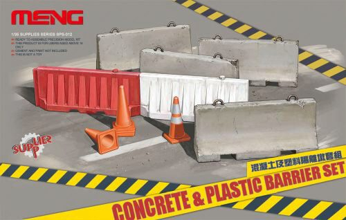 MENG-Model SPS-012 Concrete & plastic barrier set