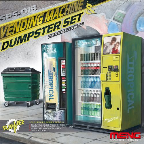 MENG-Model SPS-018 Vending Machine & Dumster Set