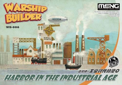MENG-Model WB-006 Warship Builder-Harbor In The Industrial Age (CARTOON MODEL)