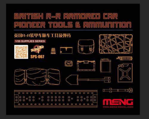 MENG-Model SPS-067 British R-R Armored Car Pioneer Tools & Ammunition (RESIN)