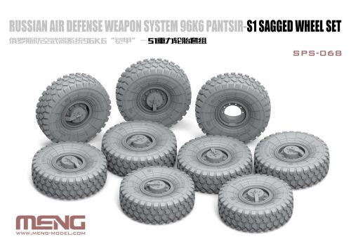 MENG-Model SPS-068 Russian Air Defense Weapon System 96K6 Pantsir-S1 Sagged Wheel Set