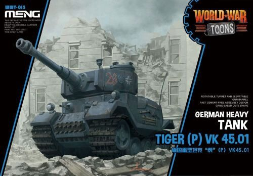 MENG-Model WWT-015 German Heavy Tank Tiger (P) (Cartoon Mod