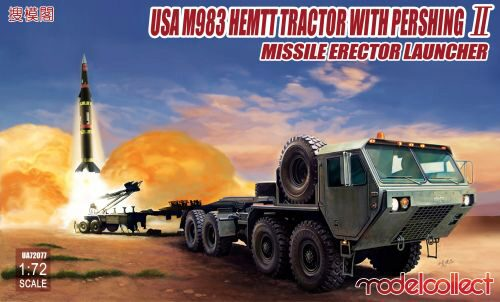 Modelcollect UA72077 USA M983 HEMTT Tractor with Pershing II Missile Erector Launche