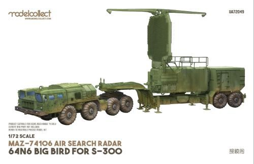 Modelcollect UA72049 MAZ-74106 air search radar 64N6 BIG BIRD for S-300 camouflage.2010s