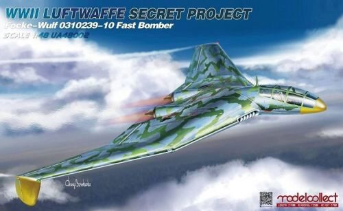 Modelcollect UA48002 WWII LUFTWAFFE Secret Project Focke-Wulf 0310239-10 Fast Bomber