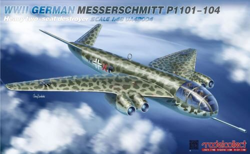 Modelcollect UA48004 WWII German Messerschmitt P1101-104 Heavy two-seat destroyer