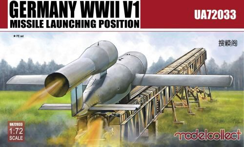 Modelcollect UA72033 Germany WWII V1 Missile launching positi 2 in 1
