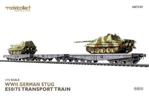 Modelcollect UA72167 WWII German STUG E50/75 transport train