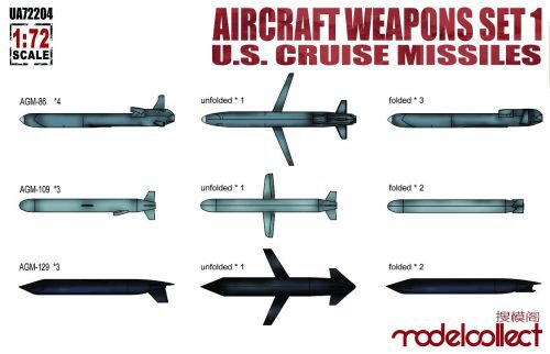 Modelcollect UA72204 Aircraft weapons set1 U.S.cruise missile