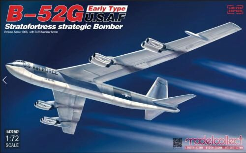 Modelcollect UA72207 B-52G early type U.S.A.F stratofortress strategic bomber Broken Arrow1966 w.B-28