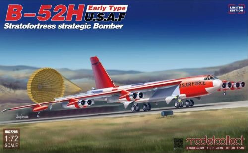 Modelcollect UA72208 B-52H early type Stratofortress strategi Bomber, Limited Edition
