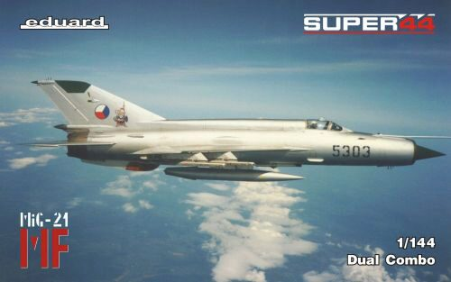 Eduard Plastic Kits 4434 MF/MiG-21 in Czechoslovak service DUAL COMBO,  Supper 44